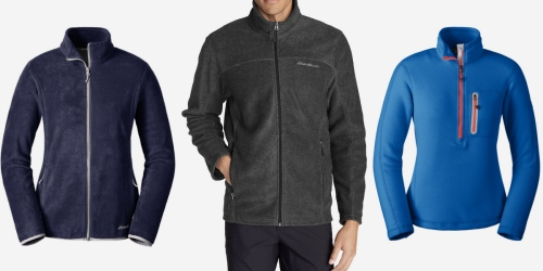Eddie Bauer: Extra 65% Off Performance Fleece Jackets = Only $21-$28 Shipped (Reg. Up to $80)