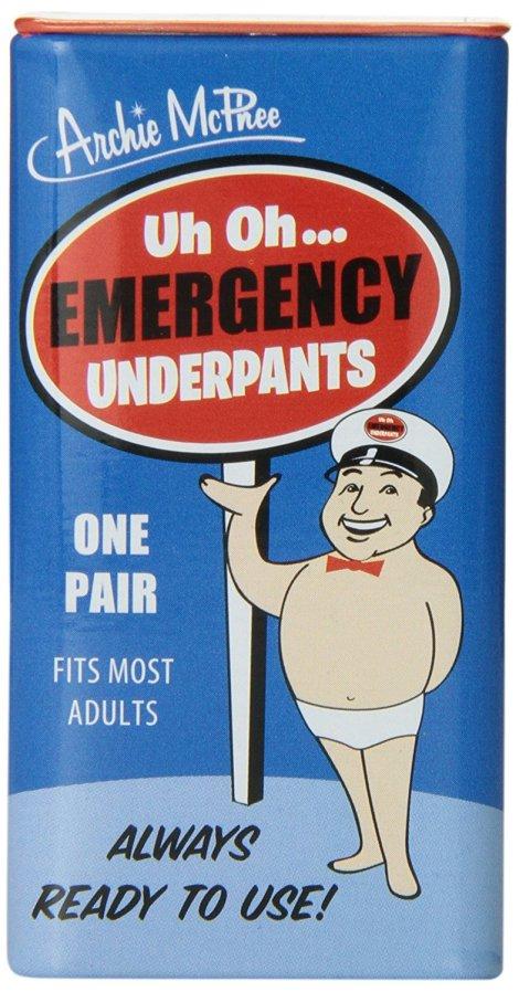 White Elephant Emergency Underpants