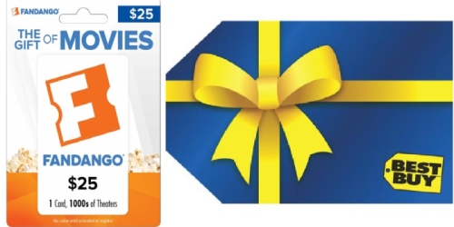 Best Buy: $25 Fandango Gift Card AND $5 Best Buy Gift Card ONLY $25 Shipped