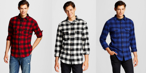 Target Cartwheel: 40% Off Men's Flannel Shirts = Shirts Only $12.49 Each After Stackable Coupon