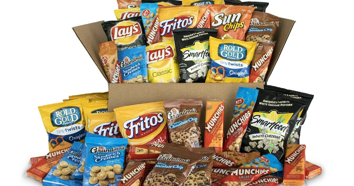 assorted bags of frito-lay chips