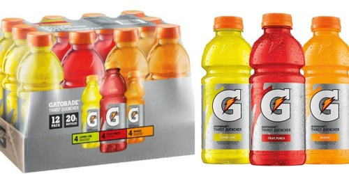 Amazon: Gatorade Variety Pack 12-Pack Only $6.15 Shipped (Just 51¢ Per Bottle!)