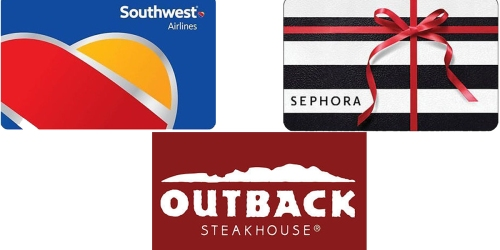 $100 Southwest eGift Card Only $88, $50 Outback Steakhouse Only $40 & MANY More