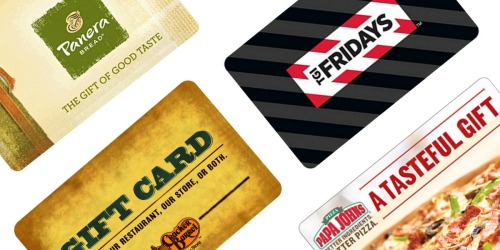 Deep Discounts on Restaurant eGift Cards (Panera, TGI Friday's, Papa John's & More)