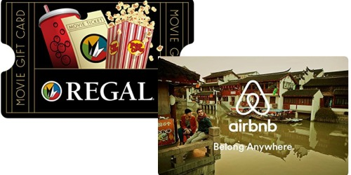Amazon: $50 Regal, Airbnb or Petco eGift Cards Only $40 Each