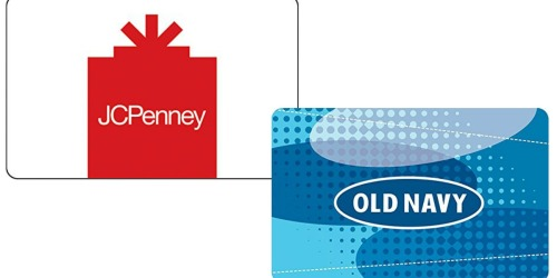 Amazon: $50 JCPenney or Old Navy eGift Card ONLY $40 + More Gift Card Deals