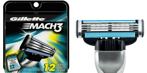 Amazon: Gillette Mach3 12 Count Razor Blade Refills Only $8.17 Shipped (Only 68¢ Per Cartridge)