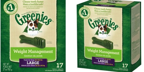Amazon: Greenies Weight Management Dog Treats 27-Ounce Only $12.55 Shipped (Regularly $25.99)