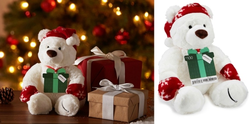Amazon Prime Members: Free Limited Edition Holiday Gund Bear with $100+ Gift Card Purchase