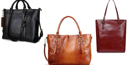 Amazon: Kattee Women's Leather Tote Bag Only $45.59 Shipped (Regularly $79.99) & More