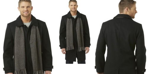 Men's Structure Peacoat & Scarf Only $39.99 (Regularly $180)