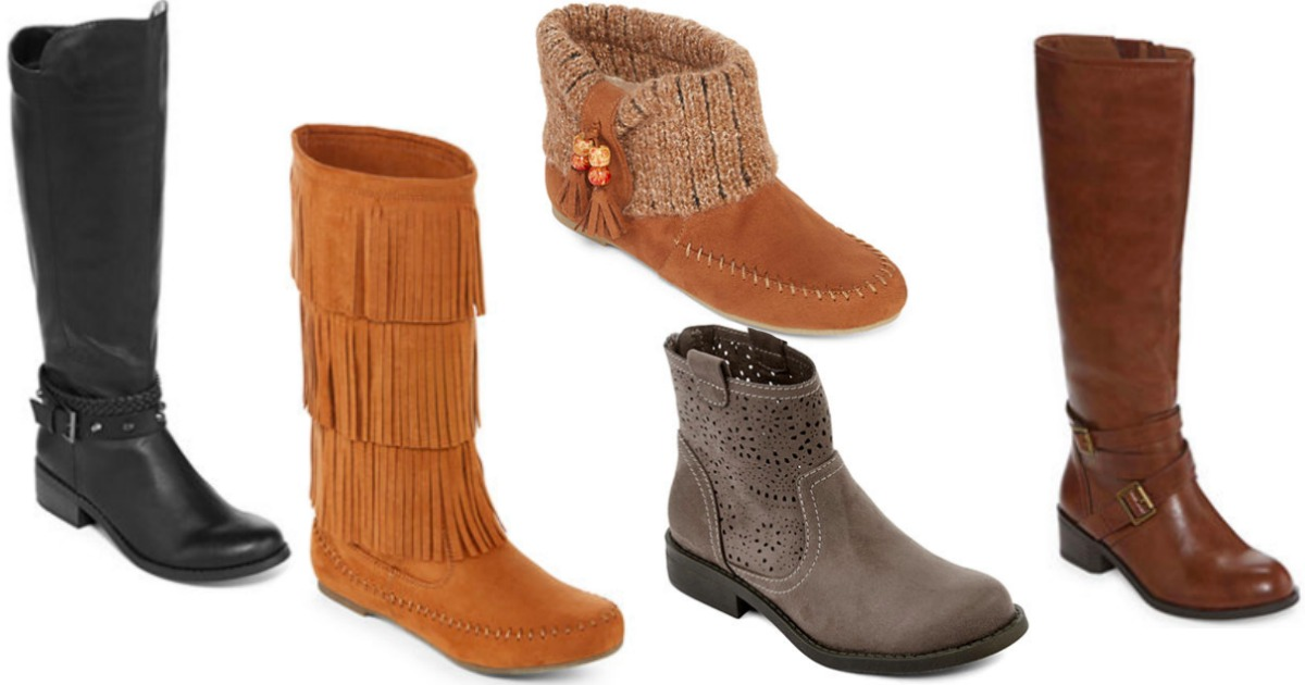 81c9c72df58c4 JCPenney  Women s Boots Only  14.99 (Regularly up to  100) - Hip2Save
