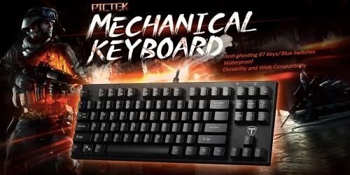 Amazon: Pictek Water-Resistant Mechanical Gaming Keyboard Only $28.99 (Regularly $37.99)