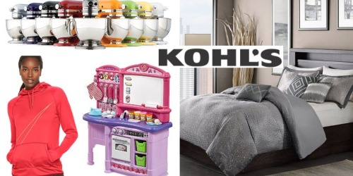 Kohl's: Up to 30% Off Entire Purchase + Earn $10 Kohl's Cash for Every $50 Spent & More