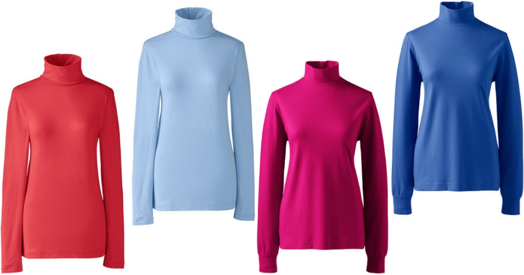 c2398653 Lands' End: Extra 50% Off Knit Tops = Women's Layering Turtleneck ...