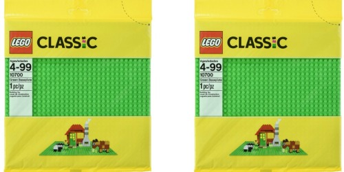 Amazon: LEGO Classic Green Base Plate Only $6.39 (Regularly $9.99)
