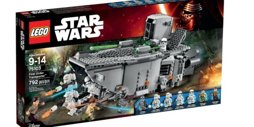 LEGO Star Wars First Order Transporter Building Kit Only $49.99 Shipped (Regularly $89.99)