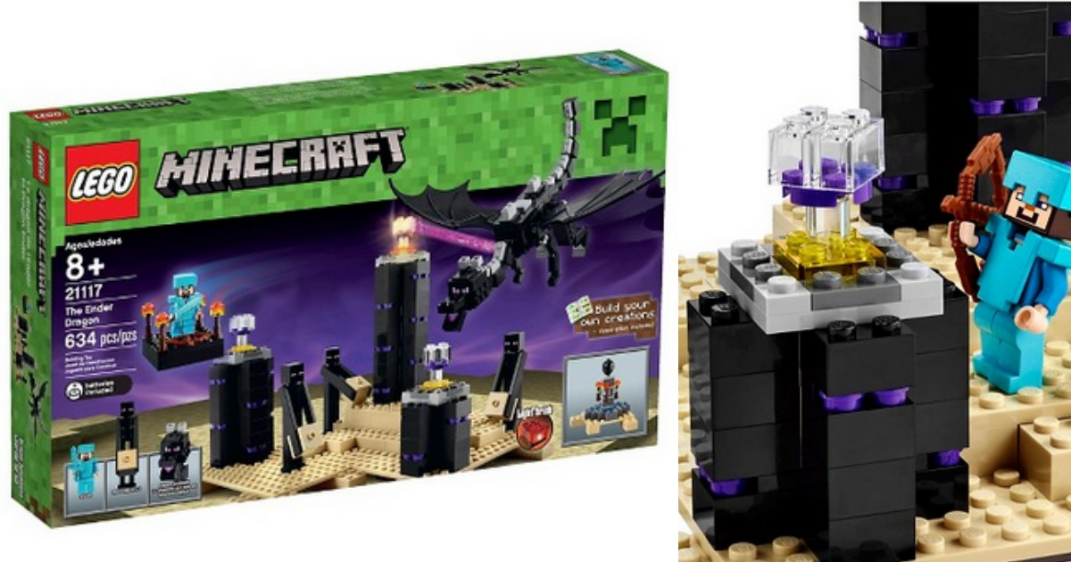 Target Shoppers 50 Off Lego Minecraft The Ender Dragon Set Today Only Hip2save