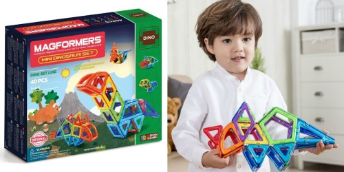 Amazon: Magformers Mini Dinosaur 40-Piece Set Only $40.13 (Regularly $69.99) & More