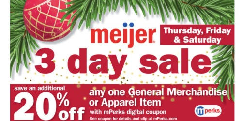 Meijer mPerks: 20% Off ANY Item = *HOT* Deals on iPads, PlayStation 4 Bundle + More