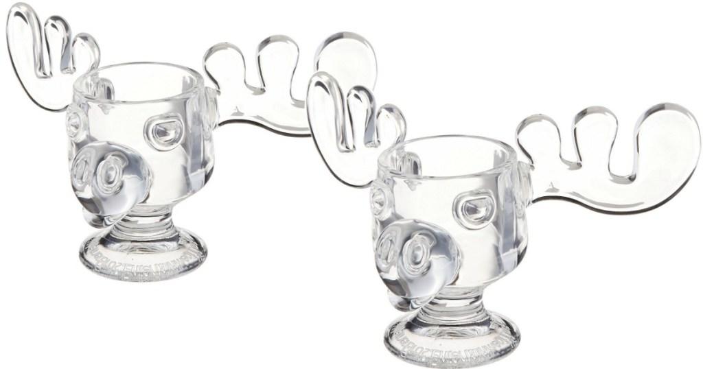 Amazon Two National Lampoons Christmas Vacation Glass Moose Mugs