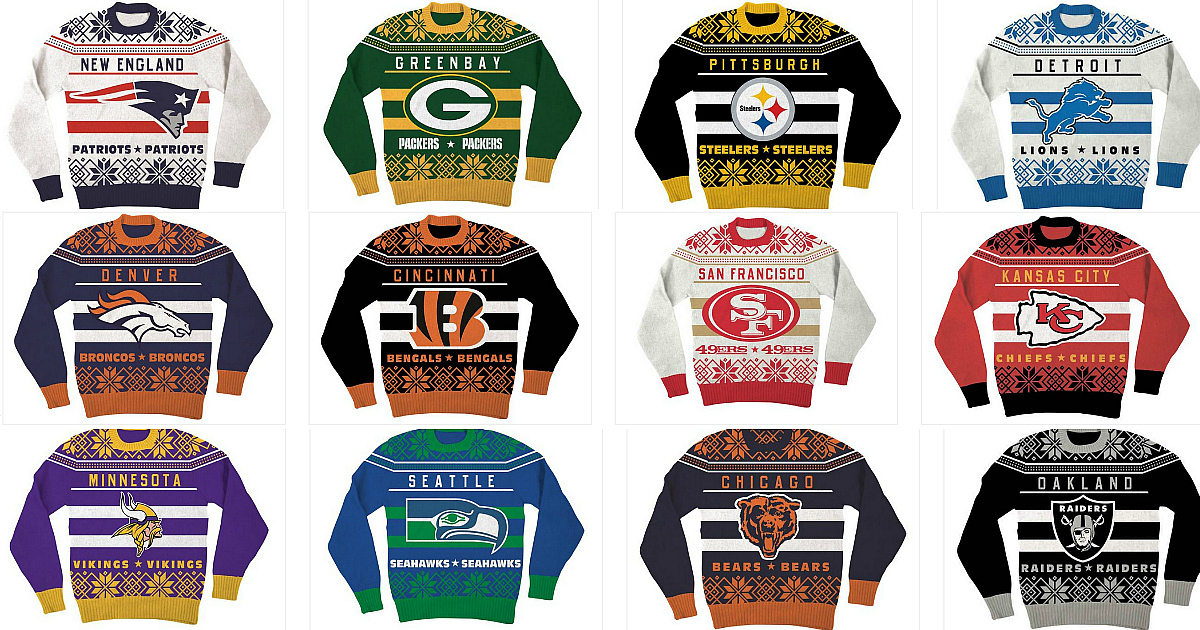 3a56ab87526 NFL Ugly Christmas Sweaters Only  15.99 Shipped - Hip2Save