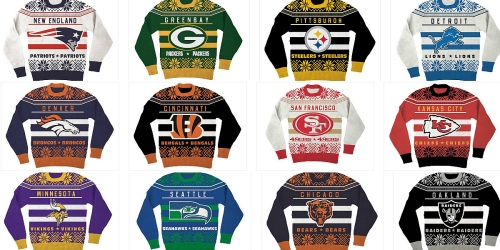 NFL Ugly Christmas Sweaters Only $15.99 Shipped