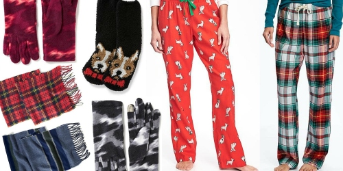 Old Navy: $1.20 Scarves, $1.50 Gloves, $2 Socks, $7 Pajama Pants (Score 8 Items for $23 Shipped!)