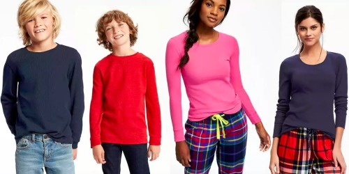 Old Navy: Long Sleeve Thermal Tees Only $3.40 (Regularly up to $12.94)