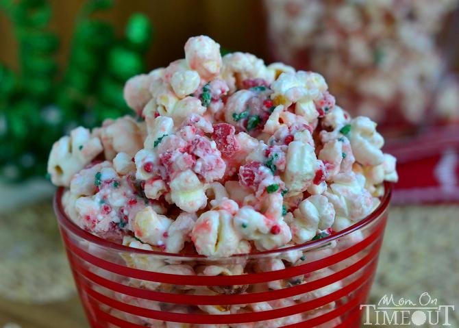 Peppermint Crunch Popcorn