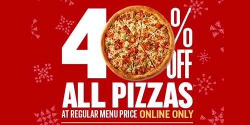 Papa John's: 40% Off Regular Price Pizzas + FREE Large 1-Topping Pizza w/ Visa Checkout