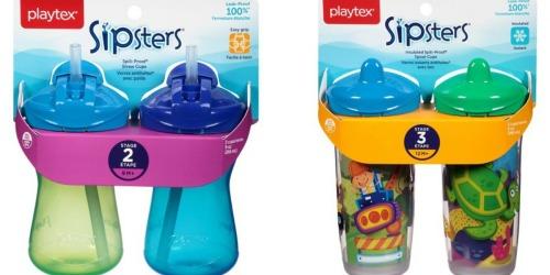 Target: Playtex Sipsters 2-Pack Sippy Cups Only $4.79 (After Gift Card)