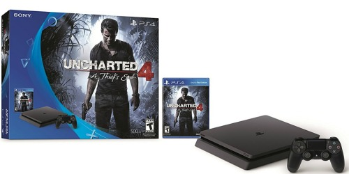 PlayStation 4 Slim Uncharted 4 Bundle Only $214.99 Shipped (Android Users Pay w/ Google Wallet)
