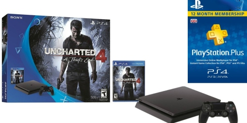 Amazon: PlayStation 4 Uncharted 4 Bundle AND 1-Year PlayStation Plus Membership $269 Shipped