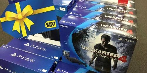 BestBuy.com: Sony PlayStation4 Console Uncharted 4 Bundle + $50 Best Buy Gift Card $249.99 Shipped