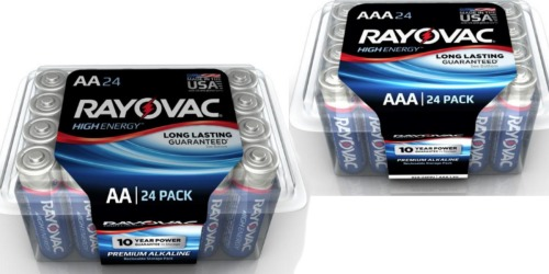 Home Depot: Rayovac AA or AAA 24-Pack Batteries ONLY $4 (Just 17¢ Per Battery)