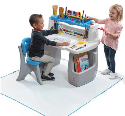 Excellent Kohls Step2 Easel Desk Stool Only 35 99 Regularly Bralicious Painted Fabric Chair Ideas Braliciousco