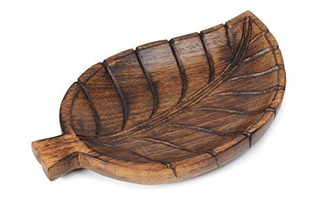 Wood Leaf Serving Platter