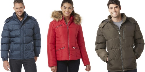 Sears.com: Men's Hooded Puffer Jackets Just $15.99 (Reg. $80) + Nice Deal on Junior's Puffer Coat