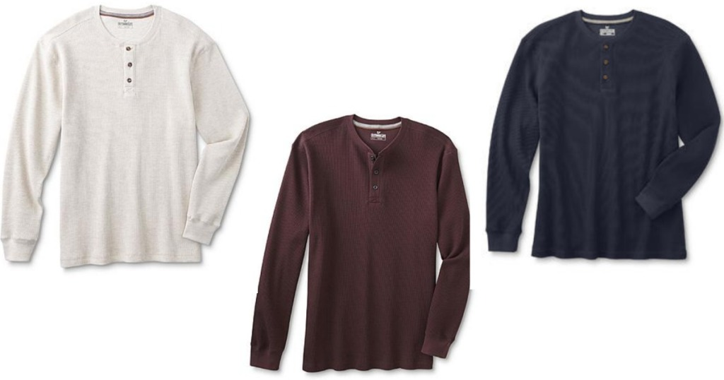 f121132e Head on over to Sears where you can score this Men's Thermal Henley Shirt  for only $8.99 (regularly $30) – choose from several different colors.