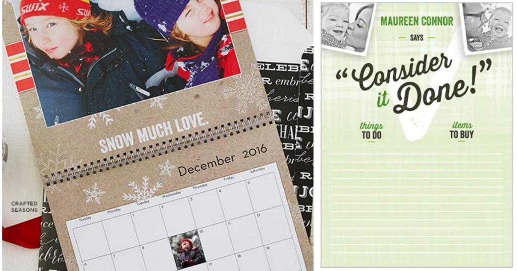 Shutterfly Free Custom Wall Calendar Memory Card Game Notepad