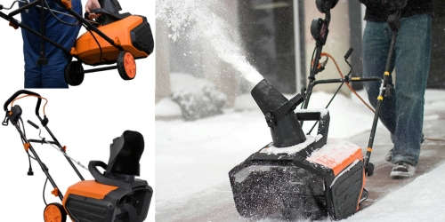 WEN Snowblaster 18-inch Electric Snow Thrower ONLY $99 Shipped (Regularly $119.99)