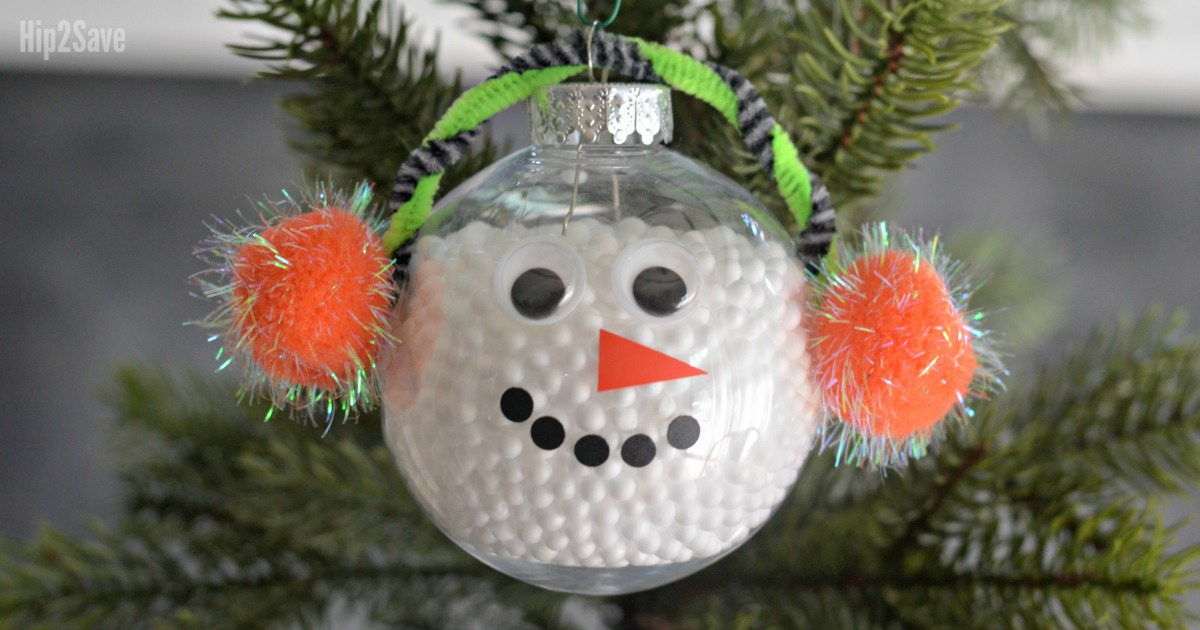 snowman-ornament - DIY Simple Snowman Christmas Ornament - Hip2Save