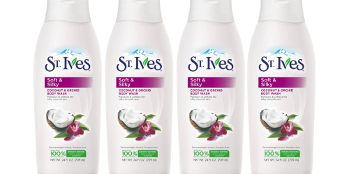 Target: St. Ives Soft & Silky Body Wash 24oz Bottles Only $1.74 Each After Gift Card (When You Buy 4)