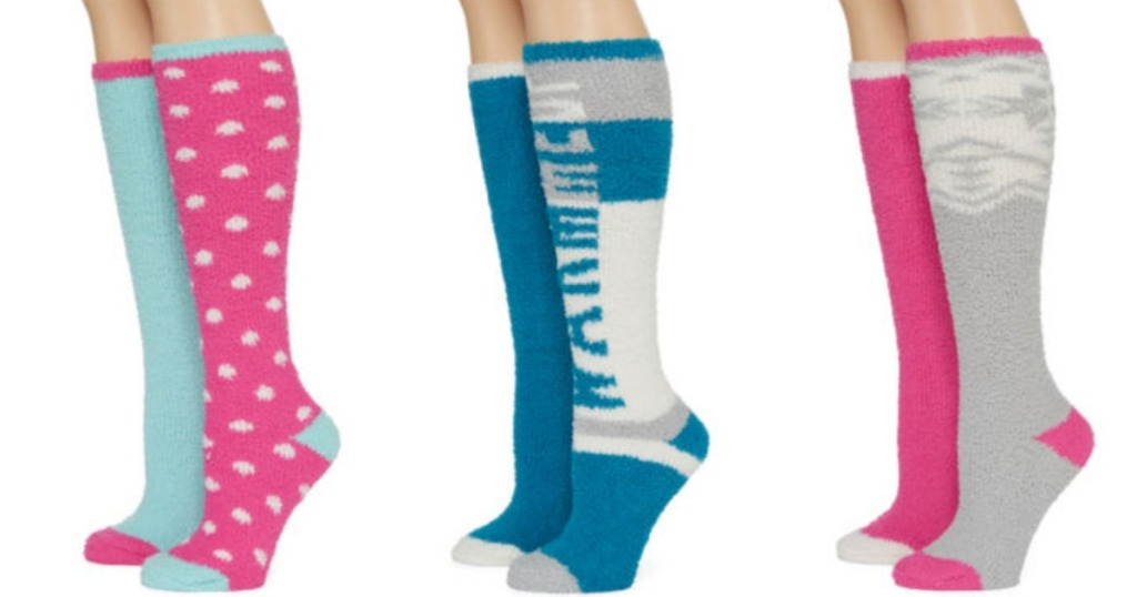dd0152e770d JCPenney  Knee High 2-Pack Slipper Socks Only  2.55 Shipped + More (Today  Only)
