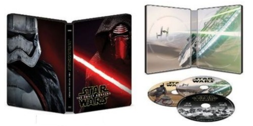 Best Buy: Star Wars The Force Awakens SteelBook Blu-ray Only $9.99 Shipped (Regularly $24.99)