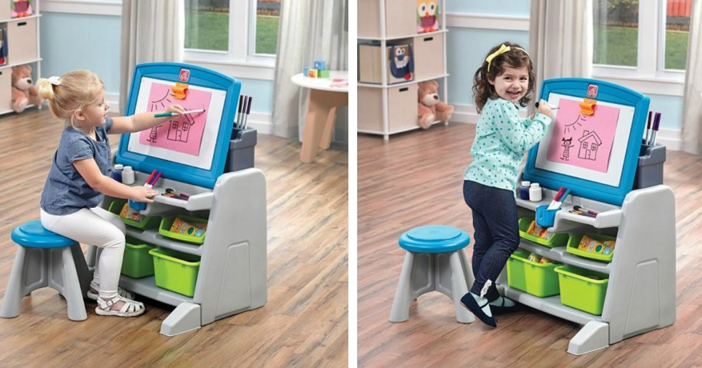 Sensational Kohls Step2 Easel Desk Stool Only 35 99 Regularly Bralicious Painted Fabric Chair Ideas Braliciousco