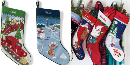 Lands' End: 40% Off Entire Order = Monogrammed Needlepoint Stocking Just $17.70 Shipped