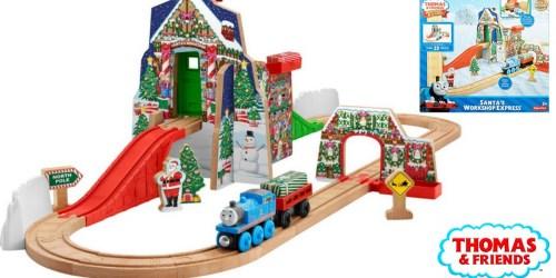 Amazon Exclusive: Fisher-Price Thomas the Train Santa's Workshop Wooden Railway $46.76 Shipped