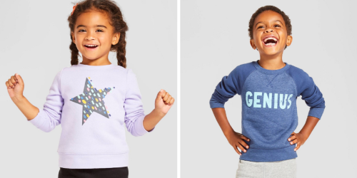 Target: Buy 1 Get 1 50% Off Kid's Clothing = Toddler Sweatshirts Only $3.38 Each Shipped & More